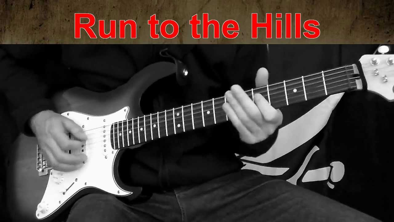 how to play run to the hills on guitar