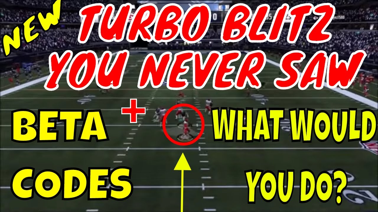 MADDEN 19 TURBO BLITZ NOBODY SEEN BEFORE  WHAT WOULD YOU DO