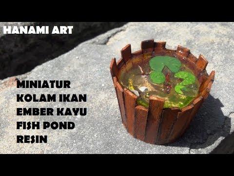 Miniatur Kolam Ikan Kayu Resin / DIY Miniature Wood Fish Pond Resin