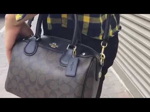 Coach Signature Mini Bennett Crossbody Satchel - YouTube 5da855fd054a5