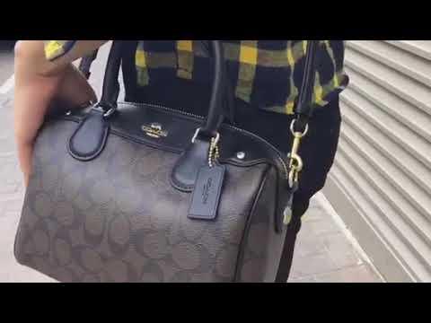 c04fad6106ba Coach Signature Mini Bennett Crossbody Satchel - YouTube
