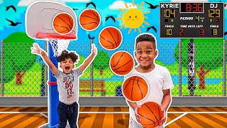 DJ & KYRIE 1 VS 1 BASKETBALL GAME WITH THE PRINCE FAMILY WINNER WIN MYSTERY GIFT!!