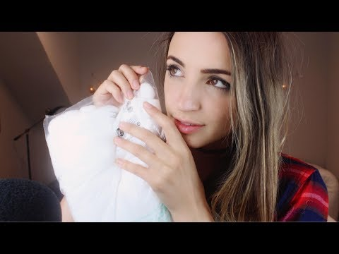 [ASMR] Crinkles & Close Ear Touching (Whispered)