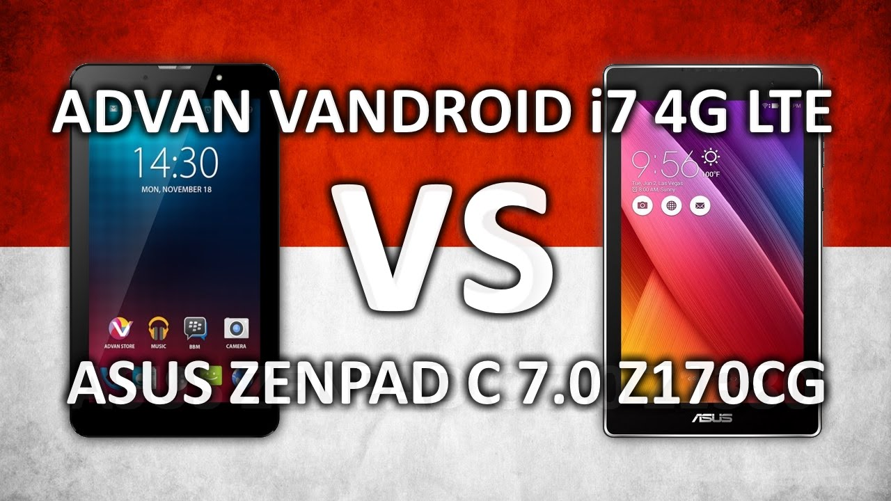 Advan Vandroid I7 VS Asus Zenpad C 70 Performance Comparison