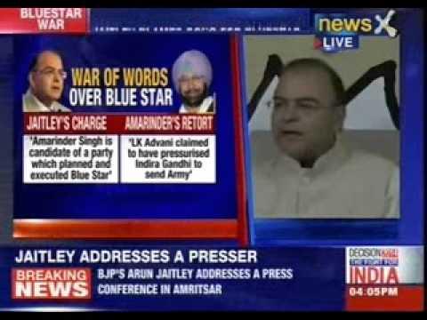 Arun Jaitley's Bluestar shocker