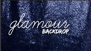 DIY: GLAMOUR BACKDROP FOR YOUR VIDEOS | Nerissa Farrell