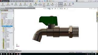 سوليدووركس البرنامج التعليمي #22 : كيفية إنشاء رسم صنبور الماء/ كاران الهواء