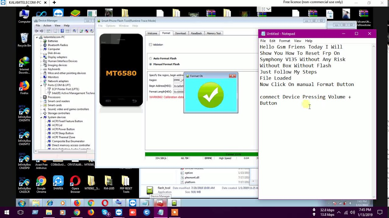 Symphony V135 FRP Reset Without Box & Dongle MT6580 Android 8 1 Oreo