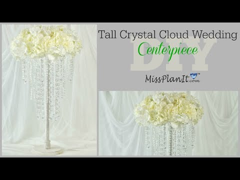 diy-tall-crystal-cloud-wedding-centerpiece|-tall-glam-centerpieces-|-diy-tutorial