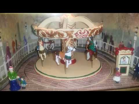 Mr christmas village square carousel music box