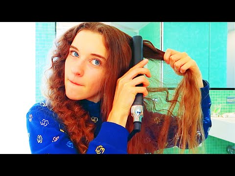 SABRE STRAIGHTENS HER CURLY HAIR