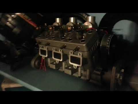 MHZ V6 Marine engine quarter scale 1/4 Sextett V6 Nitro engine