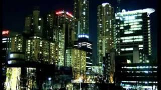 Южная Корея ночью