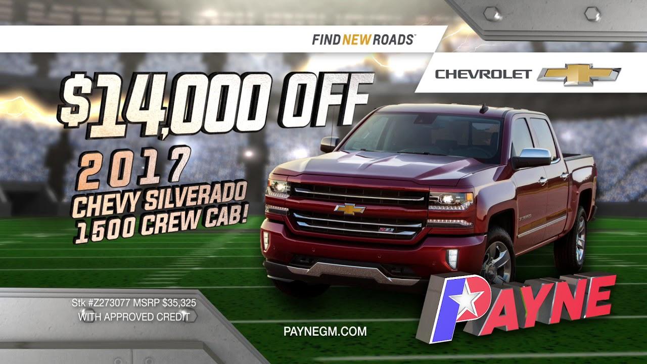 Get $14,000 off MSRP on a 2017 Chevy Silverado 1500 | Payne Weslaco