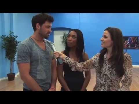 Stuart Brazell Visits Brandy & Maksim Chmerkovskiy at Dancing With the Stars Rehearsal