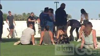 Selena Gomez & The Weeknd Seen Making Out At Coachella In Indio, California 4/15/2017