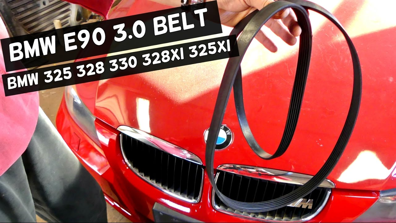 BMW E90 E92 E93 SERPENTINE BELT DIAGRAM AND REPLACEMENT 325i 328i 330i 325xi 328xi 325ci 328ci