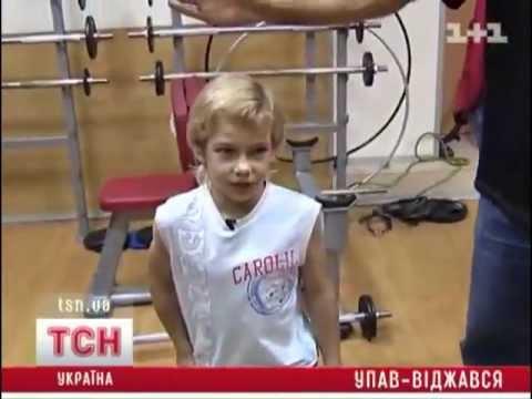 7 летний украинский школьник отжался 4000 раз