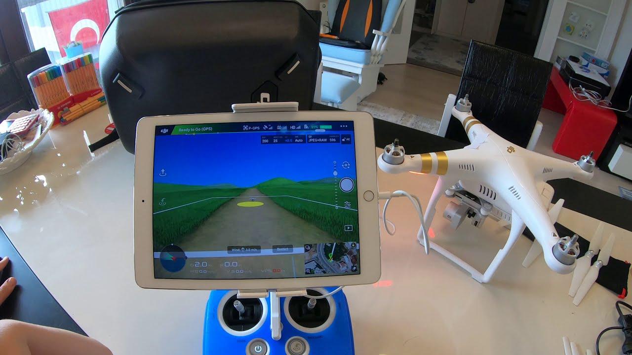 DJI Phantom 3 Pro Uçuş Ayarlar DJI GO Simulator 2 картинки