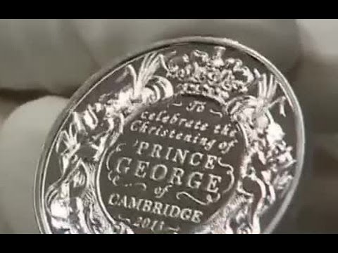 Prince George christening coins produced by Royal Mint