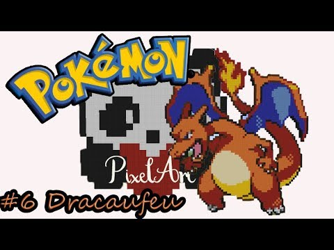 Pg1 6 Dracaufeu Pixel Art Timelapse Minecraft Youtube