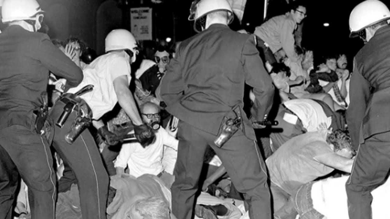 50 Years Ago: As World Watched, Chicago Police Attacked Protesters at '68 Democratic Convention - YouTube