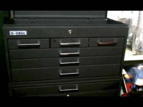 US General 11 Drawer Roller Cabinet Review (Item 67421) - YouTube