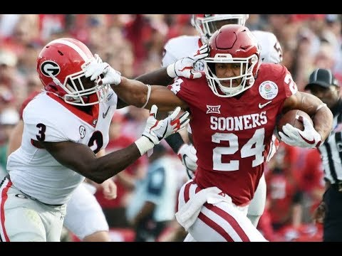 Rodney Anderson (Oklahoma RB) vs Georgia - 2018 Rose Bowl