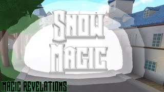 Checking out Snow Magic in Magic Revelations (ROBLOX)