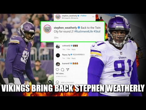 Vikings Bring Back Defensive End Stephen Weatherly