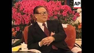CHINA: PRESIDENT ZEMIN MEETS MACAU/HONG KONG DELEGATES
