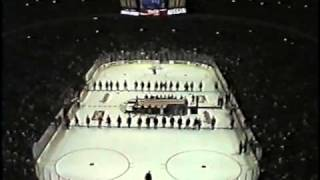 National Anthem at United Center opening night 1/25/95 - Wayne Messmer - Chicago Blackhawks