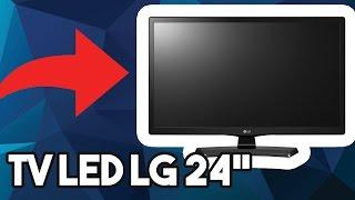 """UNBOXING TV LED LG 24"""" COM MODO GAMER"""
