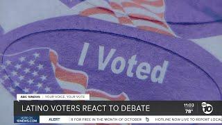 San Diego Latino voters react to presidential debate