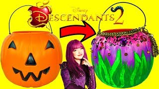 DESCENDANTS 2 MAL Inspired HALLOWEEN Trick Or Treat Pumpkin Basket DIY, SHOUT OUTS