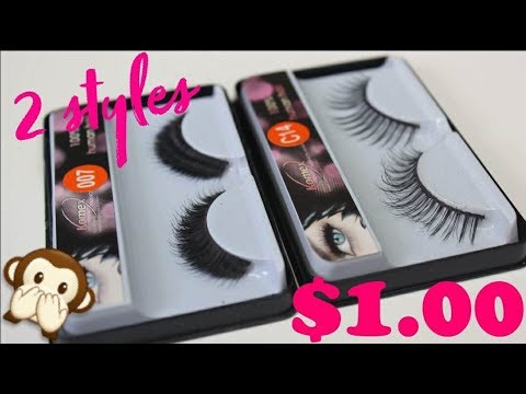 5bcdeeaf58a VIRAL MAKEUP HACK -$1 LASHES Turn ANY Cheap Lash Into An EXPENSIVE WISPY  LASHES.. DOES IT WORK!?