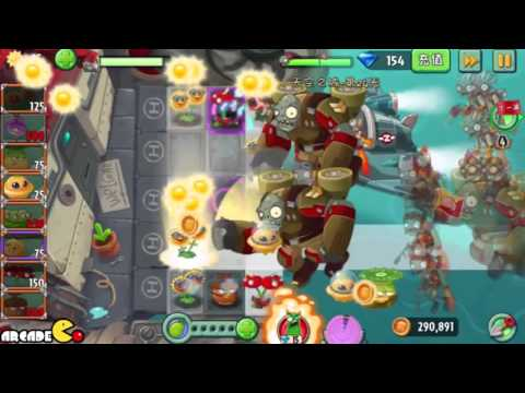 Plants Vs Zombies 2: Sky Castle World Mini Game Air Force Sky War! (PVZ 2 China) Part 8 HD