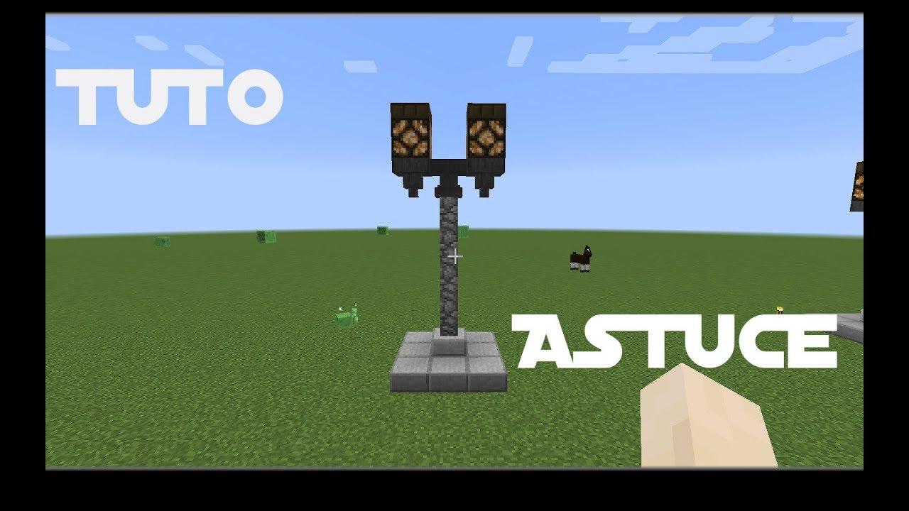 tuto comment faire un lampadaire dans minecraft - Lampadaire Minecraft
