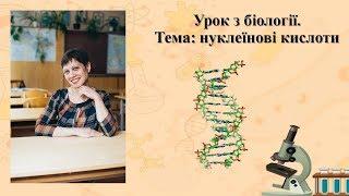 Уроки біології. Нуклеїнові кислоти. ЗНО.
