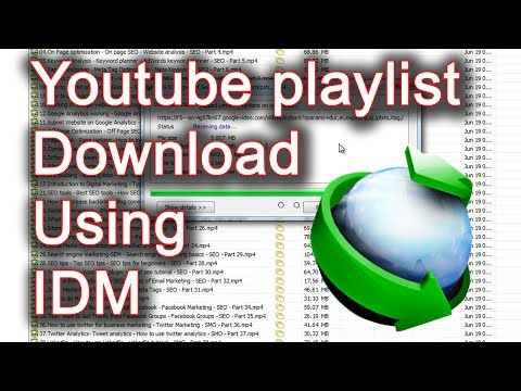 How Download Youtube Playlist Download Using IDM (Full Playlist)
