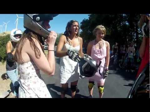 Ladies in Dresses Run Maryhill SheRide
