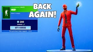 THANOS SNAP IS BACK..! (NEW Item shop) Fortnite Battle Royale