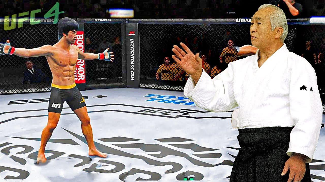 UFC4   Bruce Lee vs. Hiroshi Isoyama (Aikido Sensei) - EA sports UFC 4