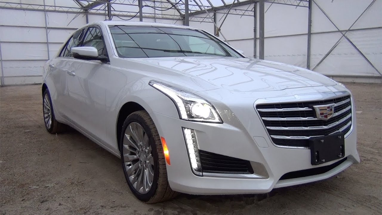 2018 Cadillac Cts Sedan 3 6l V6 Awd Luxury Crystal White Youtube