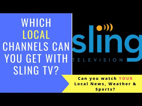 Sling TV LOCAL Channels  - Can You Watch Local News, Weather, & Sports On Sling TV?