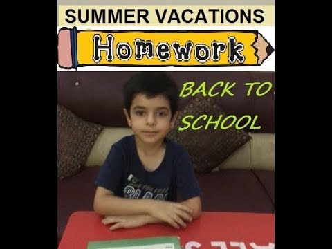 Summer Vacations Homework | Back to School
