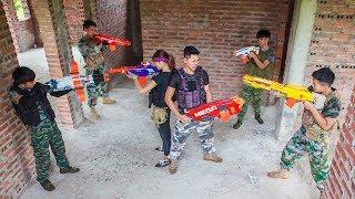 LTT Nerf War : SEAL X Warriors Nerf Guns Fight Criminal Group Cross Fire Harbor