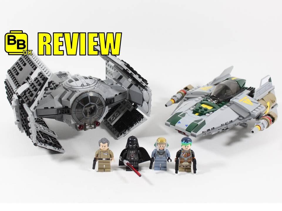 LEGO STAR WARS VADER'S TIE ADVANCED VS A-WING STARFIGHTER 75150 SET ...