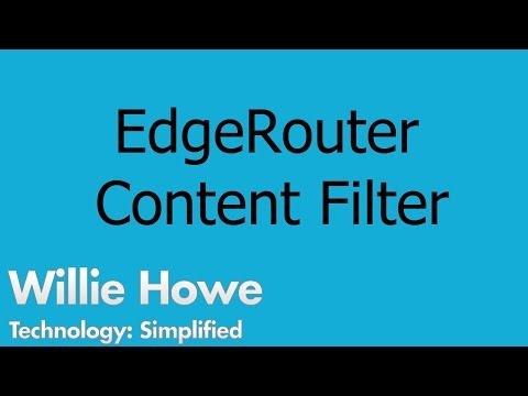 Ubiquiti EdgeRouter Content Filter - YouTube