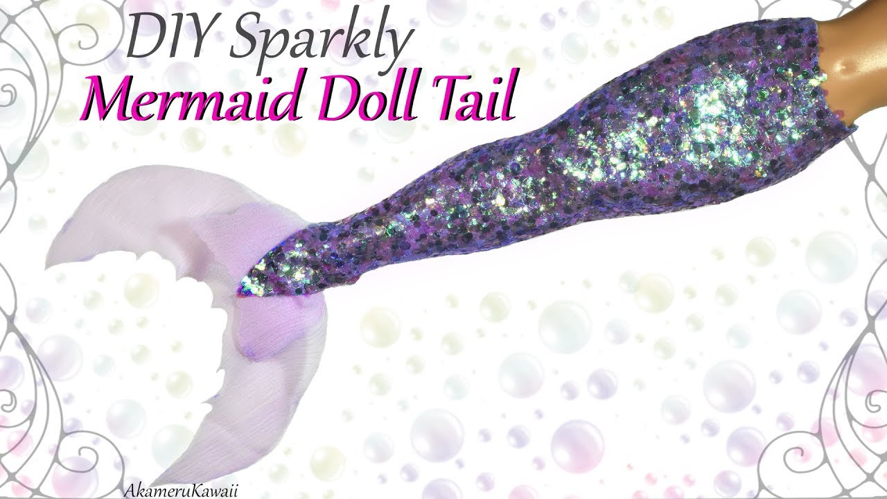 How To Glitter Mermaid Tail For Dolls Easy Fabric Tutorial No Latex